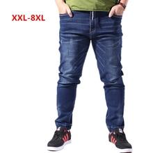 ICPANS Plus Size XL-8XL Denim Jeans Men Straight Jogging Male Classic Stretch Skinny Slim Fit Pants