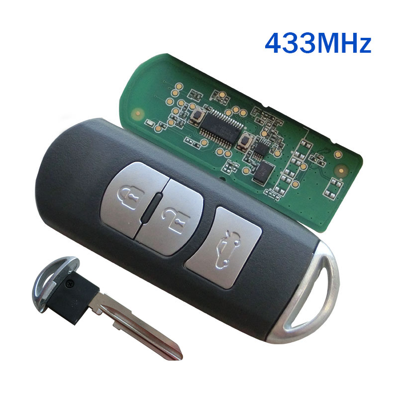 Ersatz Neue Smart Remote Key Fob 433 MHz Fit Für Mazda 3 6 CX-4 CX-5 MX-5 SKE13E-01 Mit Notschlüssel
