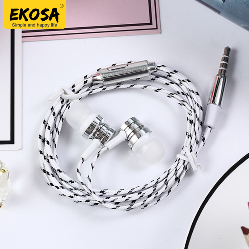 EKOSA In-ear Earphone For Xiaomi phone Auriculares Fone De Ouvido Hifi electroplating Br ...