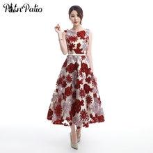 Женское винтажное вечернее платье из тюля с цветами привлекательное