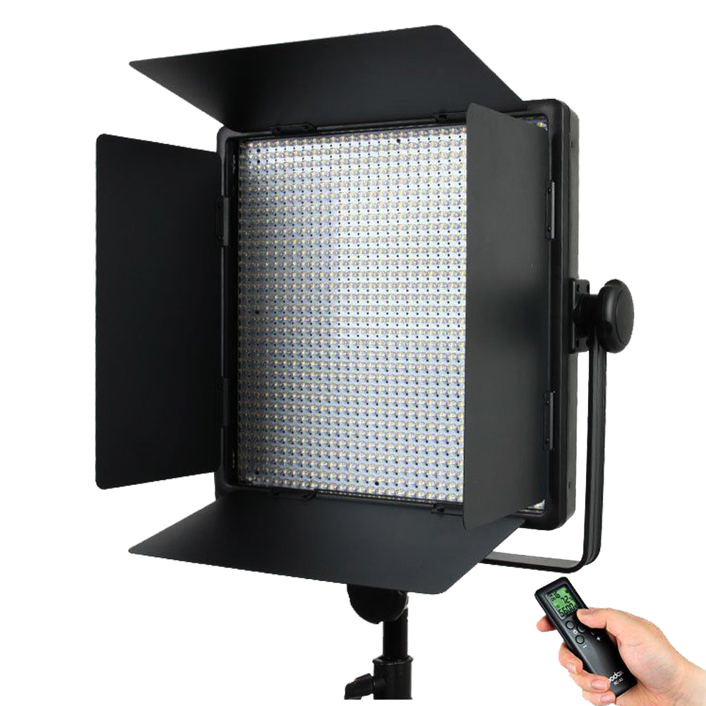 Godox LED1000C 3300K-5600K LED Video Continuous Light Lamp Panel (Lux: 4400) changeable version godox 3x 1000 led photo studio video continuous light kit for camera camcorder dv wedding fashion 3300 5600k