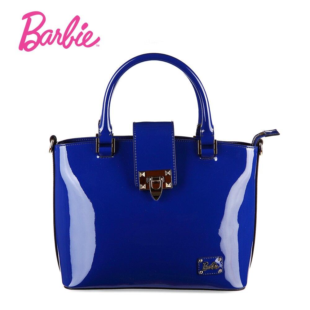 New Arrival Barbie Glossy Fashion Women Handbags Shoulder Bags PU Leather Black Top-handle Bags Female лазерный нивелир ada phantom 2d set [а00218]