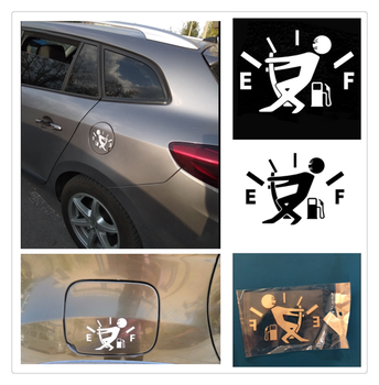 10CM * 14CM car styling fuel tank cap logo sticker decal funny for Honda City OSM FC Small PUYO Element Step REMIX CRV image