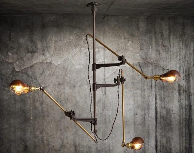 Retro vintage loft industriale lampada da soffitto lampadario