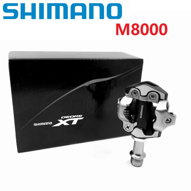 SHIMANO SPD DEORE XT M8000 Pedal Mountain Bike Self Locking Pedal With SM-SH51 SPD Cleats Set Cycling PedalsSHIMANO SPD DEORE XT M8000 Pedal Mountain Bike Self Locking Pedal With SM-SH51 SPD Cleats Set Cycling Pedals