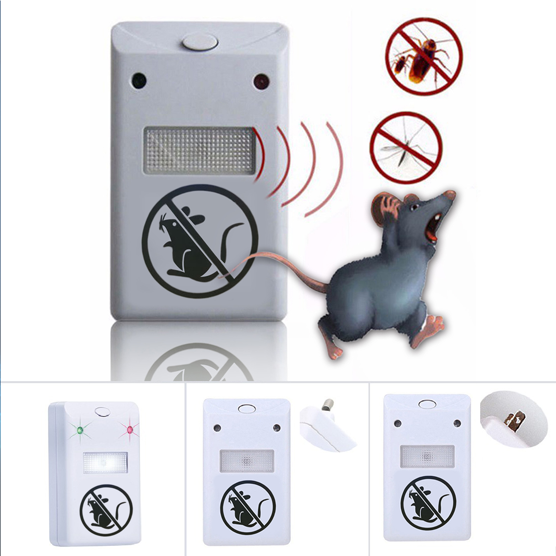 1pc Useful Electronic Ultrasonic Anti Mosquito Pest Mouse Killer Magnetic Repeller for Ants Mosquito Mouse US Plug1pc Useful Electronic Ultrasonic Anti Mosquito Pest Mouse Killer Magnetic Repeller for Ants Mosquito Mouse US Plug
