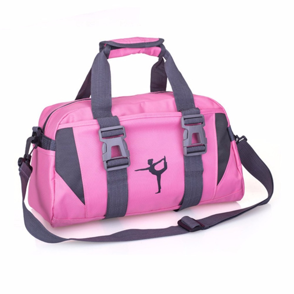 2018 Yoga Fitness Bag Waterproof Nylon Training Shoulder Crossbody Sport Bag For Women Fitness Travel Duffel Clothes Gym Bags ...