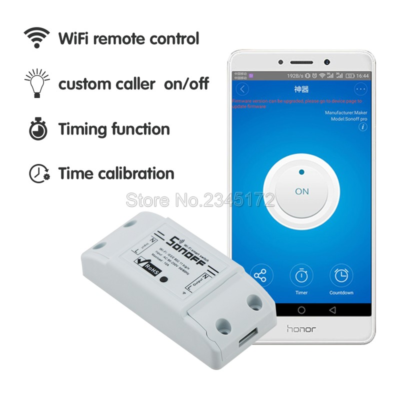 sonoff dc220v Remote Control Wifi Switch Smart Homes
