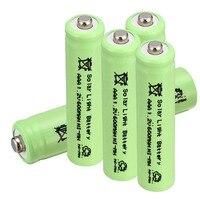 Anmas 전원 2 ~ 10 pcs 1.2 v 600 mah aaa 3a 니켈 수소 충전지 태양 광 램프 배터리 녹색