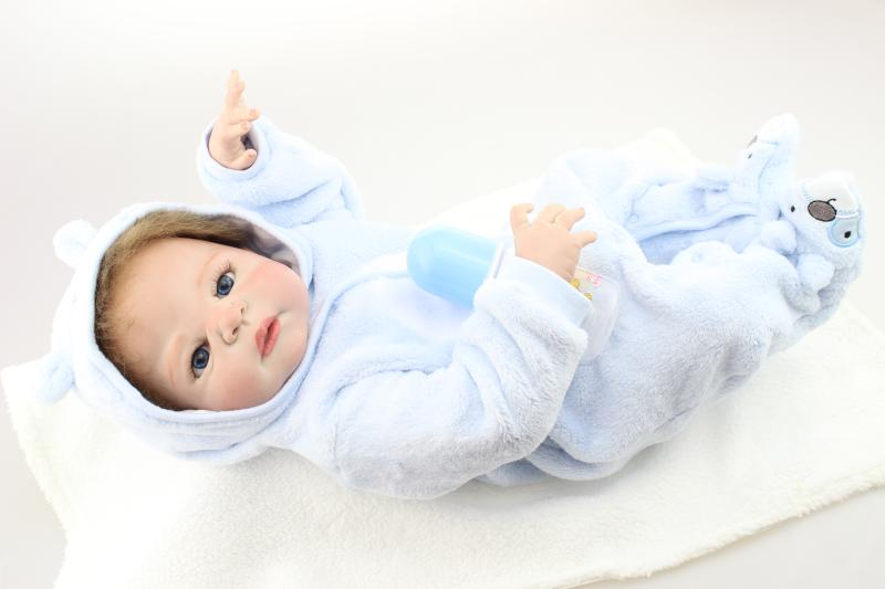 57CM 100 full silicone silicone reborn dollsboys boneca reborn babies by  NPK Doll toys for children57CM 100 full silicone silicone reborn dollsboys boneca reborn babies by  NPK Doll toys for children