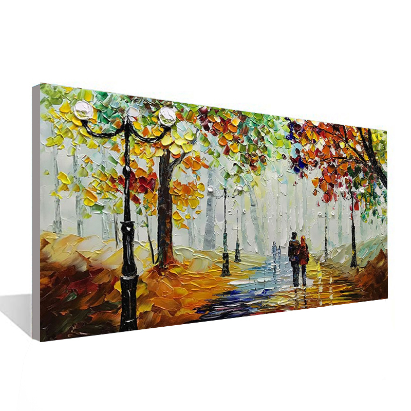 Woods landscape couple canvas painting living room bedroom wall decoration picture hand painted oil painting