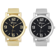 Feitong Unisex Casual Watches Women Men Luxury Brand Simple Stainless Steel Gold Mesh Quartz Wrist Watch relojes #2522