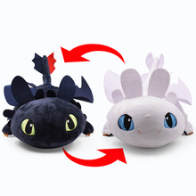 43cm Night Fury /Light Black and White Two Styles Changeable Body Plush Toy How To Train Your 3 Toothless Stuffed Doll Toys