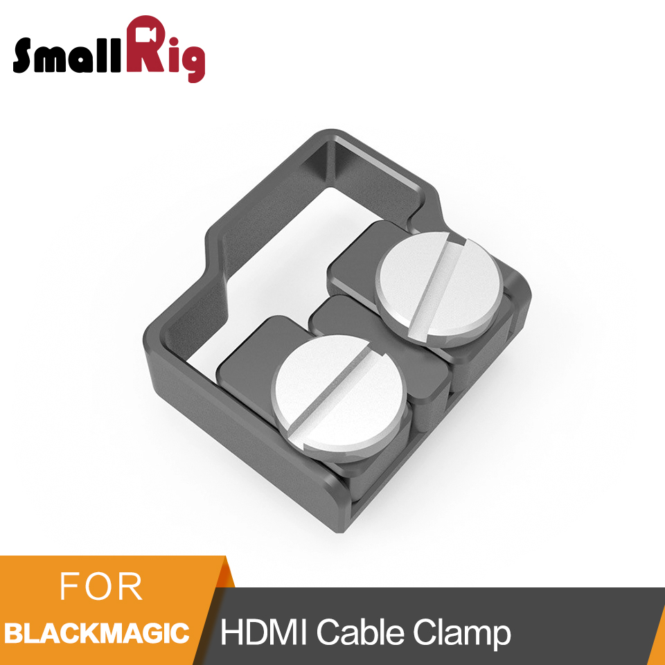 SmallRig For BMPCC 4K HDMI Cable USB-C Cable Clamp for Blackmagic Design Pocket Cinema Camera Cable Clamp Mount - 2246SmallRig For BMPCC 4K HDMI Cable USB-C Cable Clamp for Blackmagic Design Pocket Cinema Camera Cable Clamp Mount - 2246