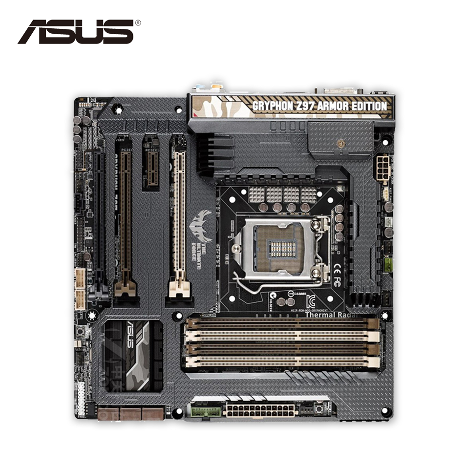 Asus GRYPHON Z97 ARMOR EDITION Desktop Motherboard Z97 Socket LGA 1150 i7 i5 i3 DDR3 Micro-ATX Second-hand High Quality submodular functions and optimization volume 58 second edition second edition annals of discrete mathematics