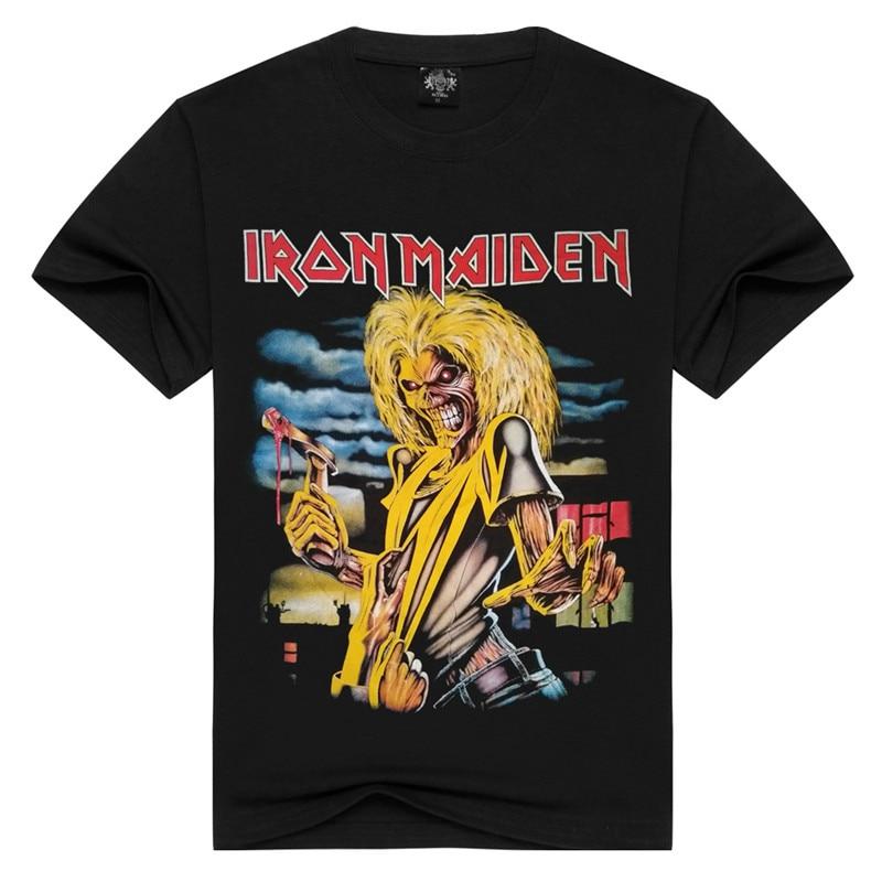 T shirt Men Fashion 2017 Iron Maiden 3D Print T Shirt Brand Clothing Anime Iron Man Hip Hop Men's Cotton T-shirts LL003