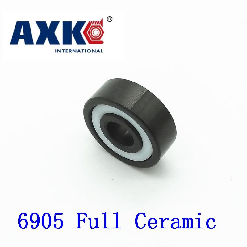 Axk 6905 Full Ceramic Bearing ( 1 Pc ) 25*42*9 Mm Si3n4 Material 6905ce All Silicon Nitride Ceramic 6905 Ball Bearings цена