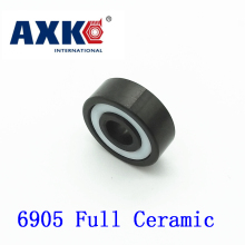 Axk 6905 Full Ceramic Bearing ( 1 Pc ) 25*42*9 Mm Si3n4 Material 6905ce All Silicon Nitride Ceramic 6905 Ball Bearings цена и фото