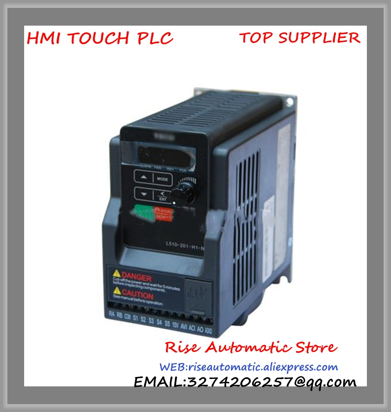 L510-201-H1-N new 1 phase 220V 4.3A 0.75KW 1HP Inverter VFD frequency AC drive