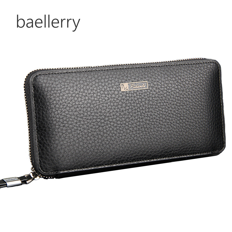 Pu Leather Men Wallets Business Brand Card holder Coin Purse Men's Long Zipper Wallet Leather Clutch carteira masculina hot 2016 new designer brand business black leather men wallets short purse card holder fashion carteira masculina couro qb1268