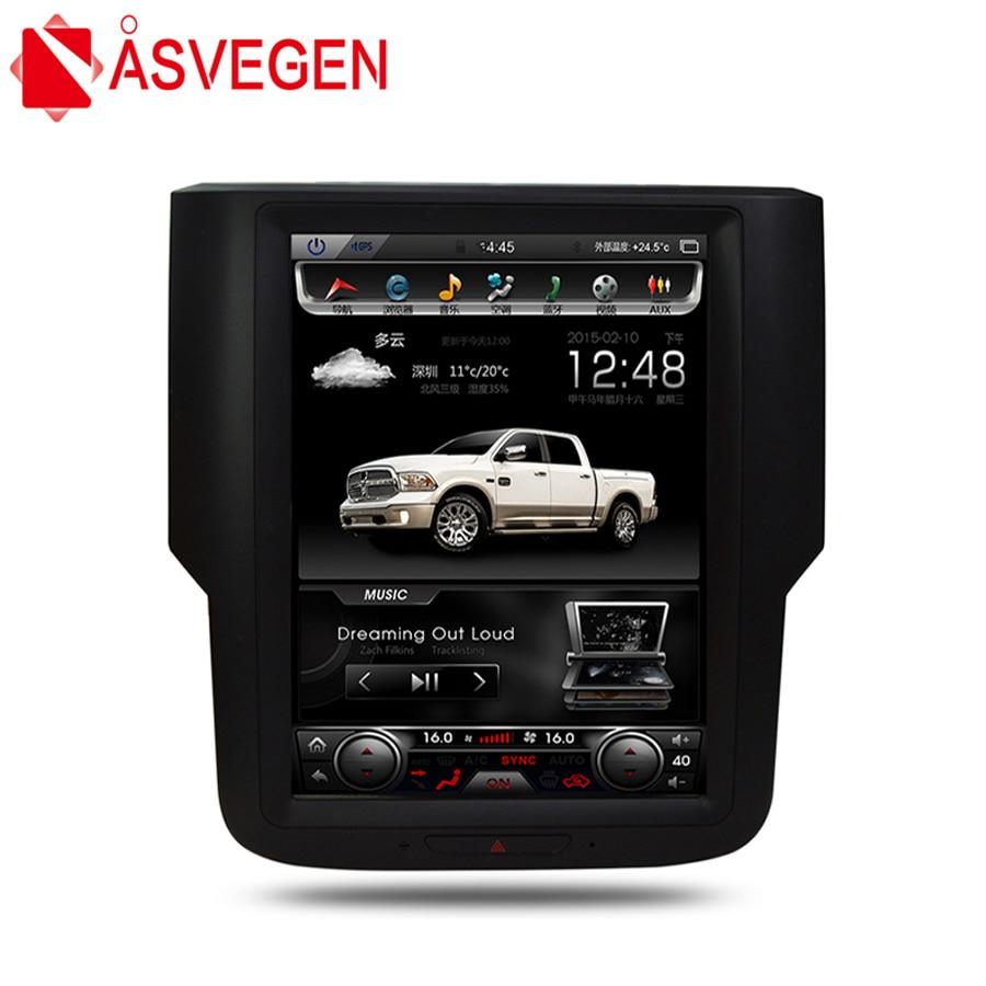 Asvegen 10.4 Vertical Écran Android 6.0 Voiture Radio Pour Dodge Ram 2014 2015 2016 2017 GPS Auto Stéréo Multimédia lecteur Headunit