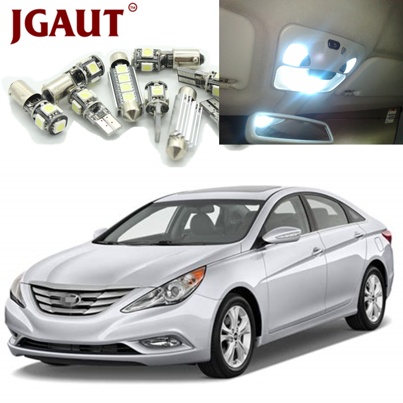 JGAUT Car LED Light Bulbs For 2011 2012 2013 2014 Hyundai Sonata White Interior Package Kit Map Dome Trunk License Plate Lamp