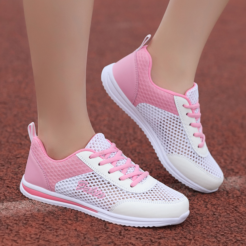 New Air Mesh Sneakers For Women Outdoor Sport Running Shoes Female Lightweight Breathable Tennis Students Flats Non-Slip Shoes