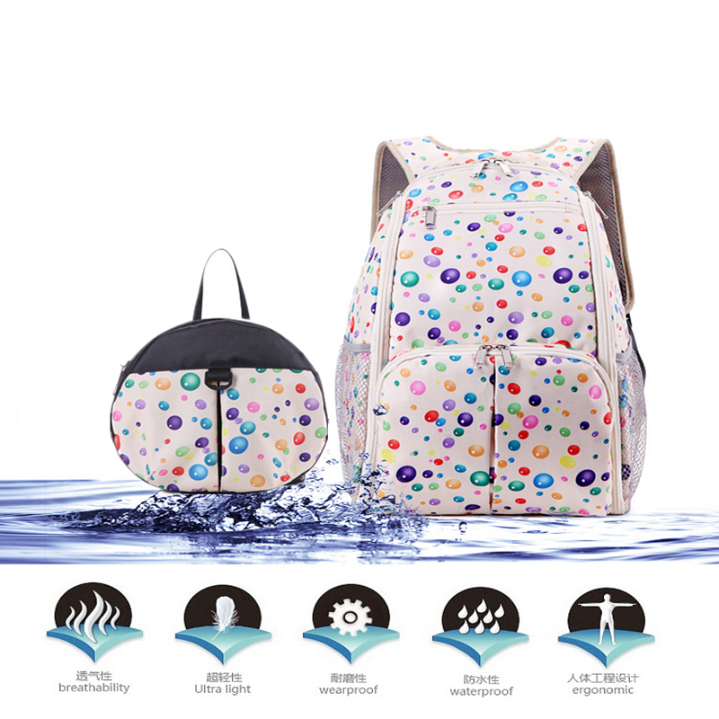 4 Colors Anti lost Baby Bag Mom Diaper Bags Fashion Large Capacity Baby Diaper Bag Backpack