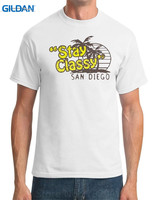 T Shirt Good Quality T Shirt Tops Gildan Short Sleeve Printed Crew Neck Mens Stay Classy