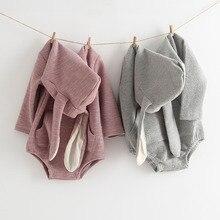 MILANCEL ropa de bebé de conejo, monos para bebé con Orejas de conejo, traje infantil de algodón para niño, ropa de bebé de manga larga