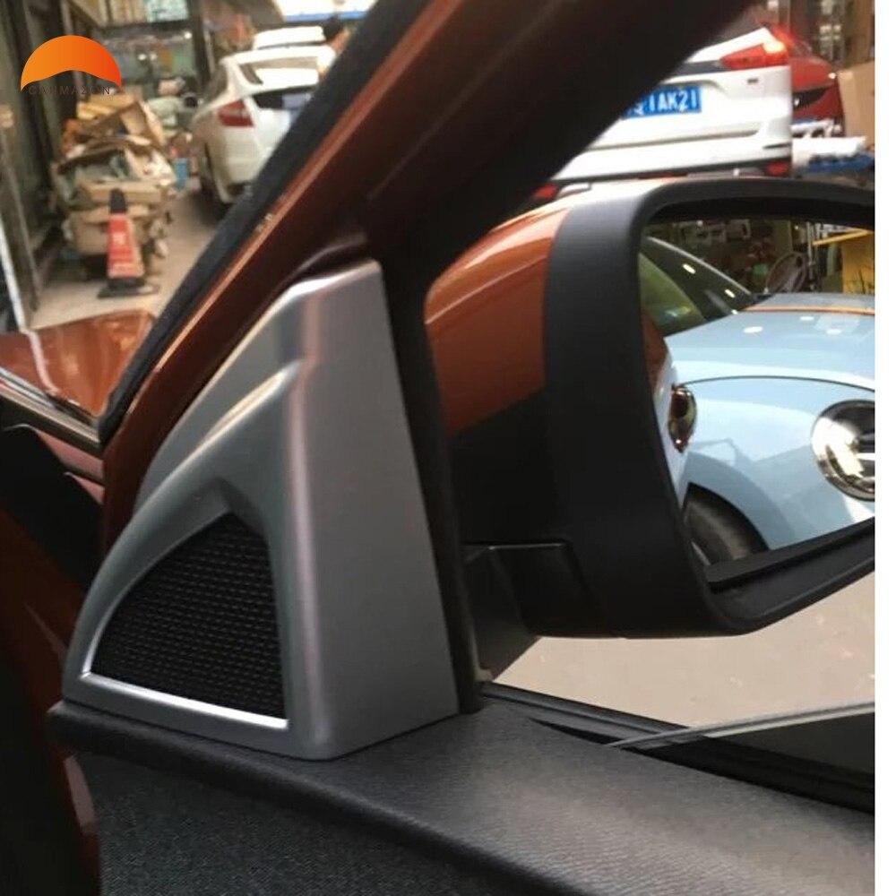 For Peugeot 3008 GT 2017 2018 Accessories Car A Pllar Speaker Loudspeaker Horn Decoration Cover Trim Sticker Car Styling 2PCS