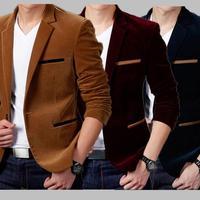 2019 NEW Suit Men's Fashion Brand British Casual Slim Fit Suit Jacket Blazers Men Coat