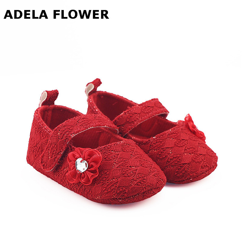 Adela Flower 2017 New Style Autumn Baby Girl Shoes Todder First Walkers Shoes Infant Girls Prewalker Flower Soft Sole Shoe 0-18M