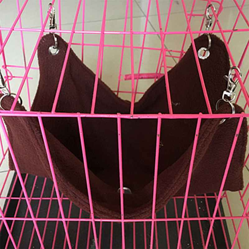 Dual Canvas Warm Hammock Hanging Bed For Hamster Rat Small Pet Cage House Sleeping Bed