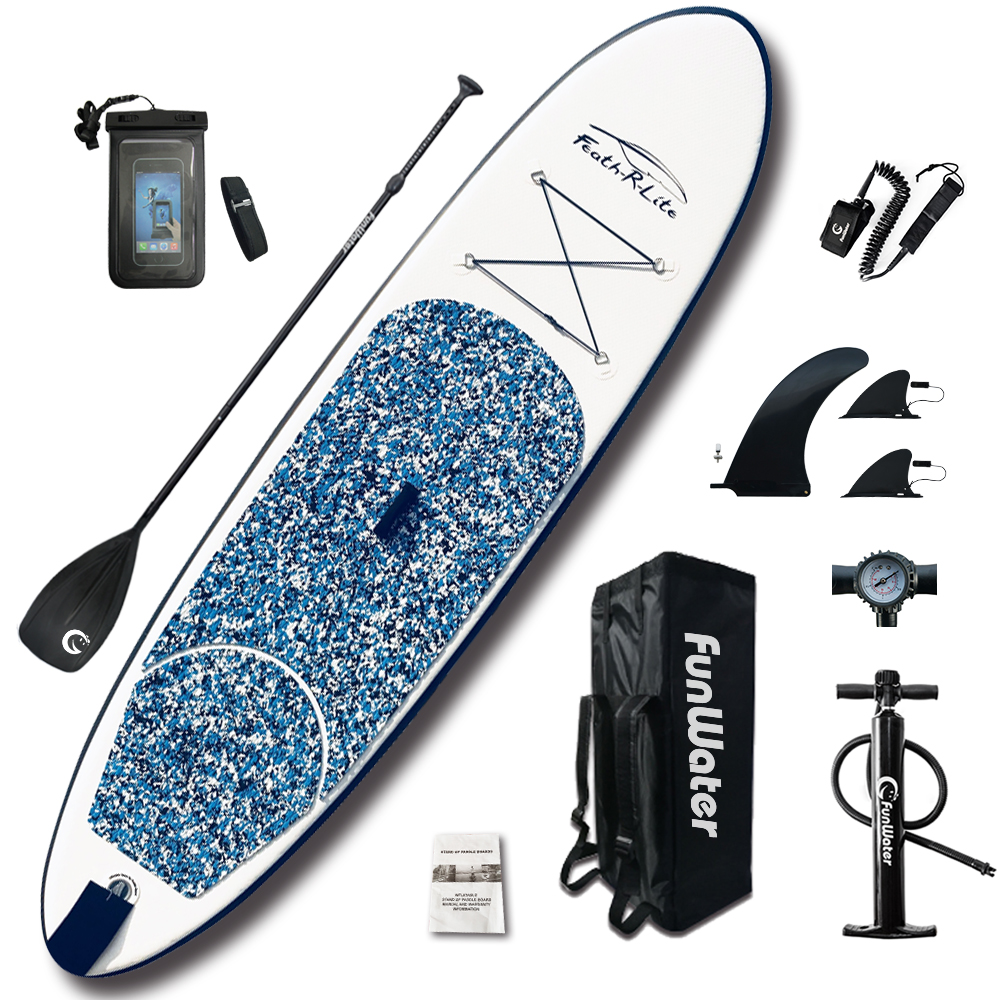 Inflatable Paddle Board 305*76*10cm with AdjustablePaddle,Backpack,leash,pump