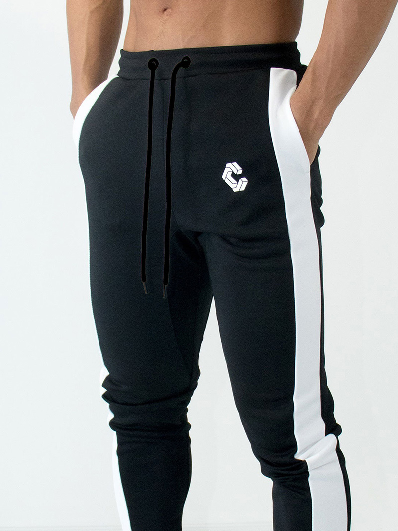 Mens Joggers Casual Pants Fitness Men Sportswear Bottoms Skinny Sweatpants Trousers Fashion Gyms Jogger Track Pants 24