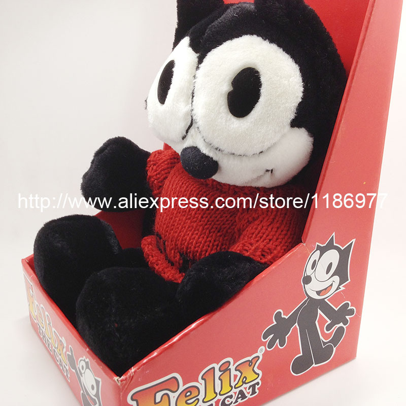 Limited Collection Felix The Cat With Red Sweater In Box Cute Soft Stuffed Animals Plush Toy Doll Birthday Gift Kids GiftLimited Collection Felix The Cat With Red Sweater In Box Cute Soft Stuffed Animals Plush Toy Doll Birthday Gift Kids Gift