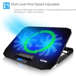 """Image 2 - SeenDa Desk Adjustable Laptop Stand Support 12"""" to 17"""" with 2 Fans USB Cooling Heat Dissipation Stand Holder for Notebook"""