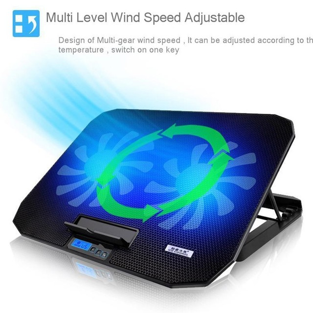 Adjustable Laptop Stand Support 12″ to 17″ with 2 Fans USB Cooling