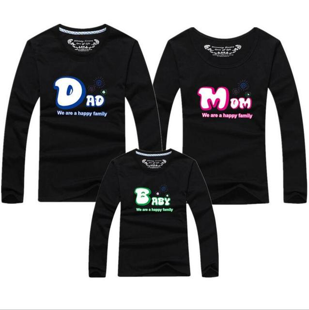 Family Christmas Shirts.Us 13 9 Spring Big Size 5xl O Neck Cotton Long Sleeve Matching Family Christmas Shirts Dad Mom Baby Outfits T Shirt For Family Af 1736 In Matching