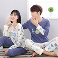 New Arrival Lovely Couple Lovers Pajama Sets Men Women Pajamas Autumn Winter Cotton Pants Pyjamas Female Male Sleepwearing
