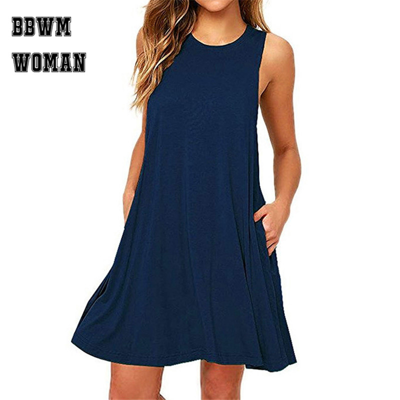 Women's Clothing Friendly Celmia 2019 Summer Plus Size Strap Dress Women Vintage Sleeveless Pockets Pleated Loose Casual Bib Overalls Robe Vestidos Mujer Soft And Light