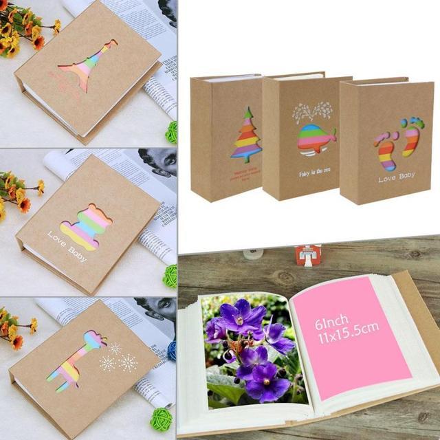 6 אינץ 100 דפים כיס Interleaf סוג תמונה אחסון מסגרת לילדים לילדים מתנות DIY רעיונות תמונה מקרה אלבום תמונות