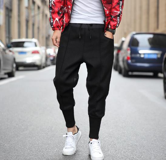 Mens Pant Winter Jogger Long-Trousers Loose Casual High-Quality Hip-Hop Plus 5XL Stitching