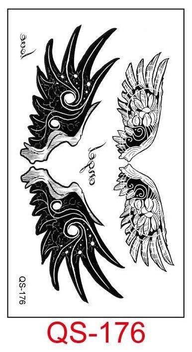 Tahan Air Tato Sementara Stiker Sayap Burung Hantu Palsu Tatto Geometris Hewan Flash Tato Tangan Kaki Belakang Untuk Gadis Wanita Pria Sementara Tato Aliexpress