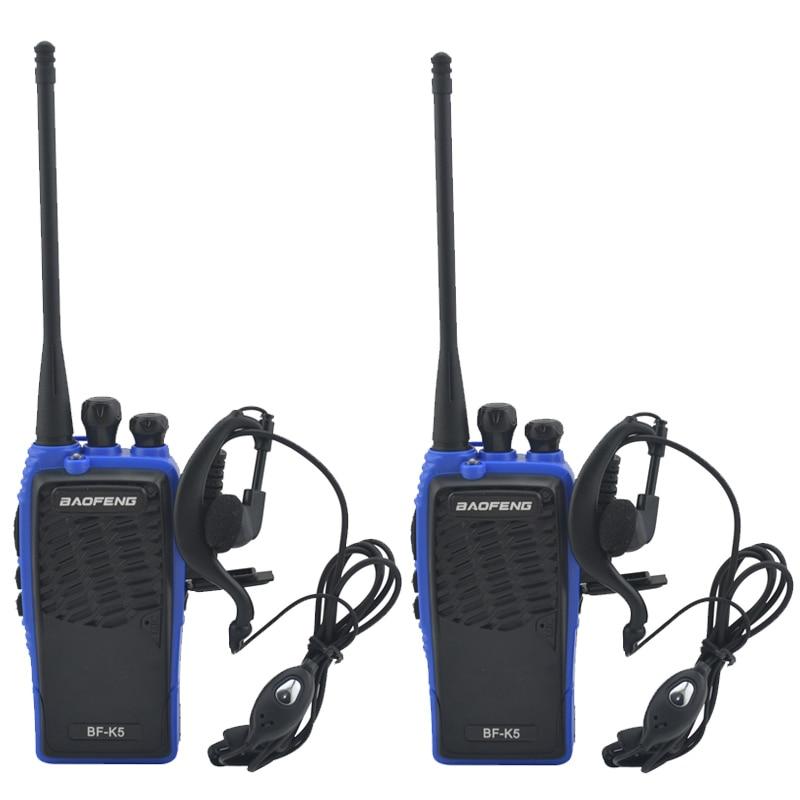 2pcs/Lot Blue Baofeng BF-K5 UHF 400-480MHz Portable Two-way Radio BAOFENG Walkie Talkie With Earpiece Ham Amateur Radio