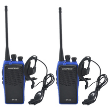 2pcs/Lot Blue baofeng BF-K5 UHF 400-480MHz Portable Two-way radio BAOFENG Walkie Talkie with earpiece Ham Amateur Radio
