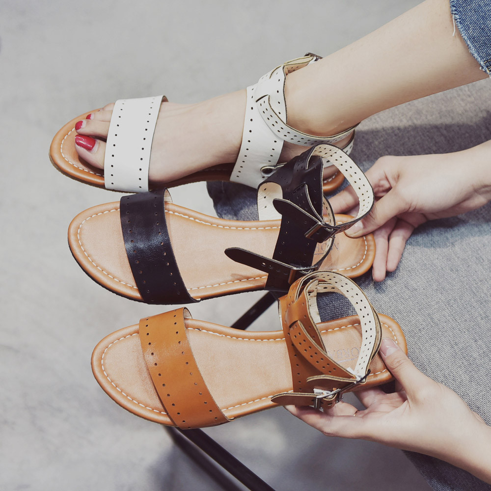 834b336e3 Beach Sandals Fashion Ladies Woman Shoes New Summer Gladiator Roman Shoes  Flat Thong Sandals Footwear Plus Size 35 43-in Women s Sandals from Shoes  on ...