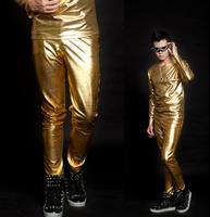 Stage persönlichkeit männer hosen gold hose männer silber hosen sänger tanz-männer rock fashion pantalon homme straße stern stil neuheit