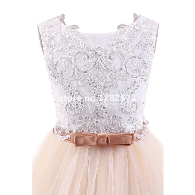 I lager Högkvalitativa blomstrande blonda flickasklänningar 2-12Y - Bröllopsfestklänningar - Foto 4